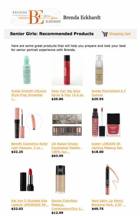 Senior Girls Recommended Makeup Products
